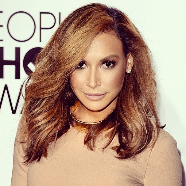 Naya Rivera's blond hair color reminded our Instagram followers of both Jennifer Lopez and Kim Kardashian.