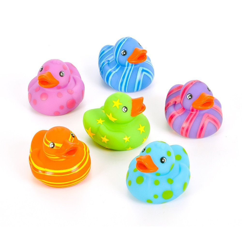 A Dozen Rainbow Rubber Duckies