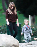 Hilary Duff and Mike Comrie's Sweet Presplit Park Date