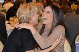 Sandra Bullock couldn't contain her laughter with Emma Thompson.