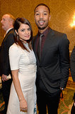 Michael B. Jordan stopped to chat with his Fruitville Station costar Melonie Diaz.