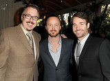 Aaron Paul hung out with Vince Gilligan and Will Forte inside.