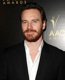 Michael Fassbender showed off his red beard.