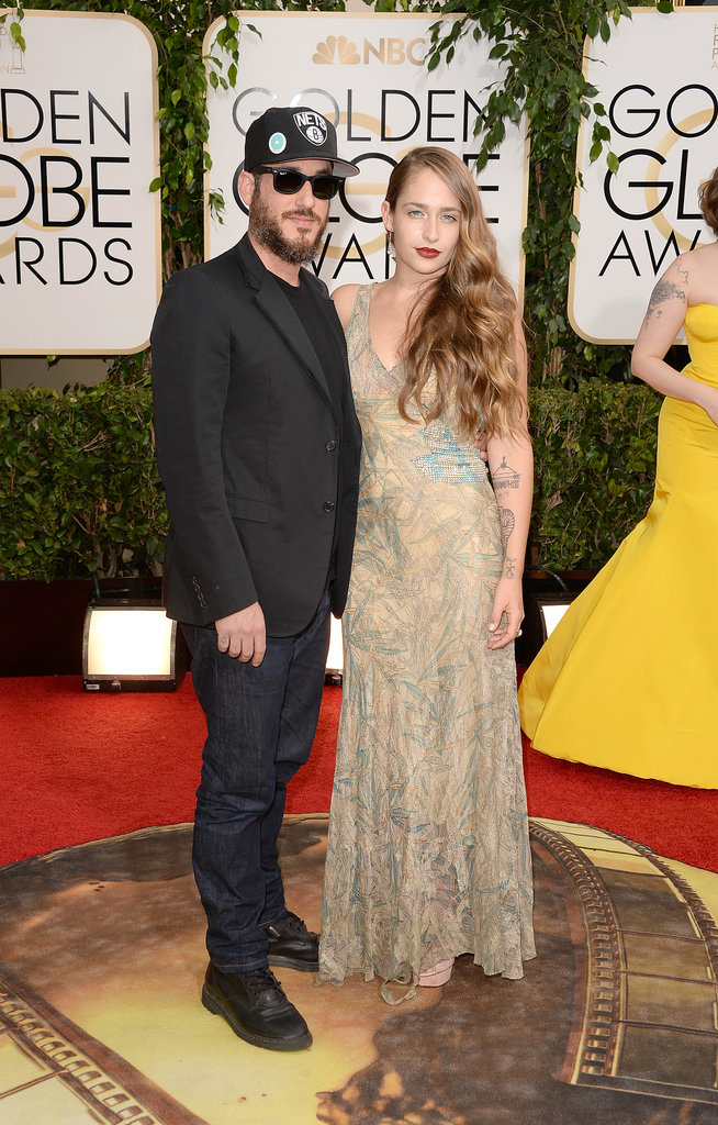 Girls star Jemima Kirke walked the red carpet with her casually-dressed husband, Michael Mosberg.