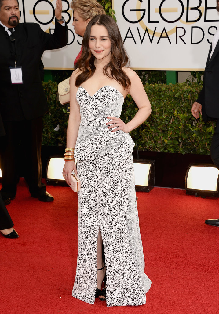 Emilia Clarke at the Golden Globes 2014