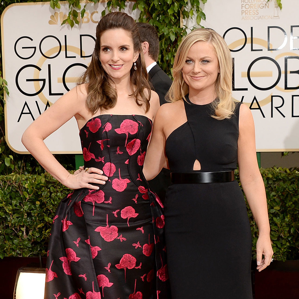 Tina Fey & Amy Poehler Dress Golden Globes 2014 Red Carpet