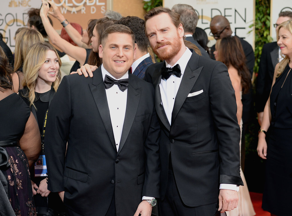 Jonah Hill and Michael Fassbender made for a fun red carpet pair.