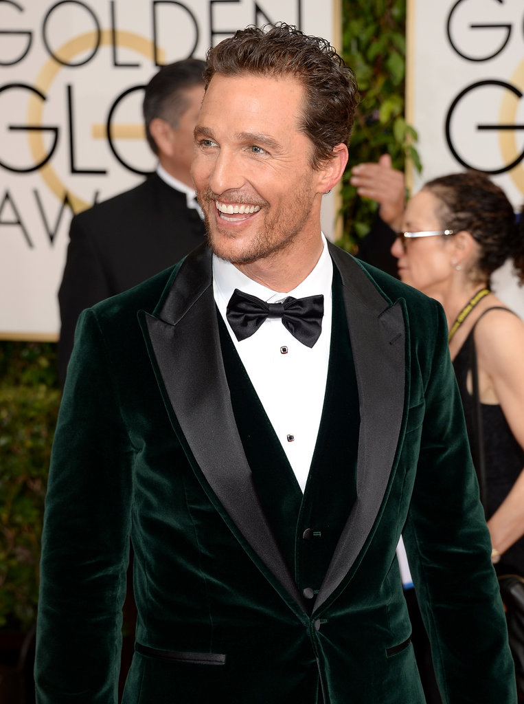 Matthew McConaughey's smile lit up the carpet.