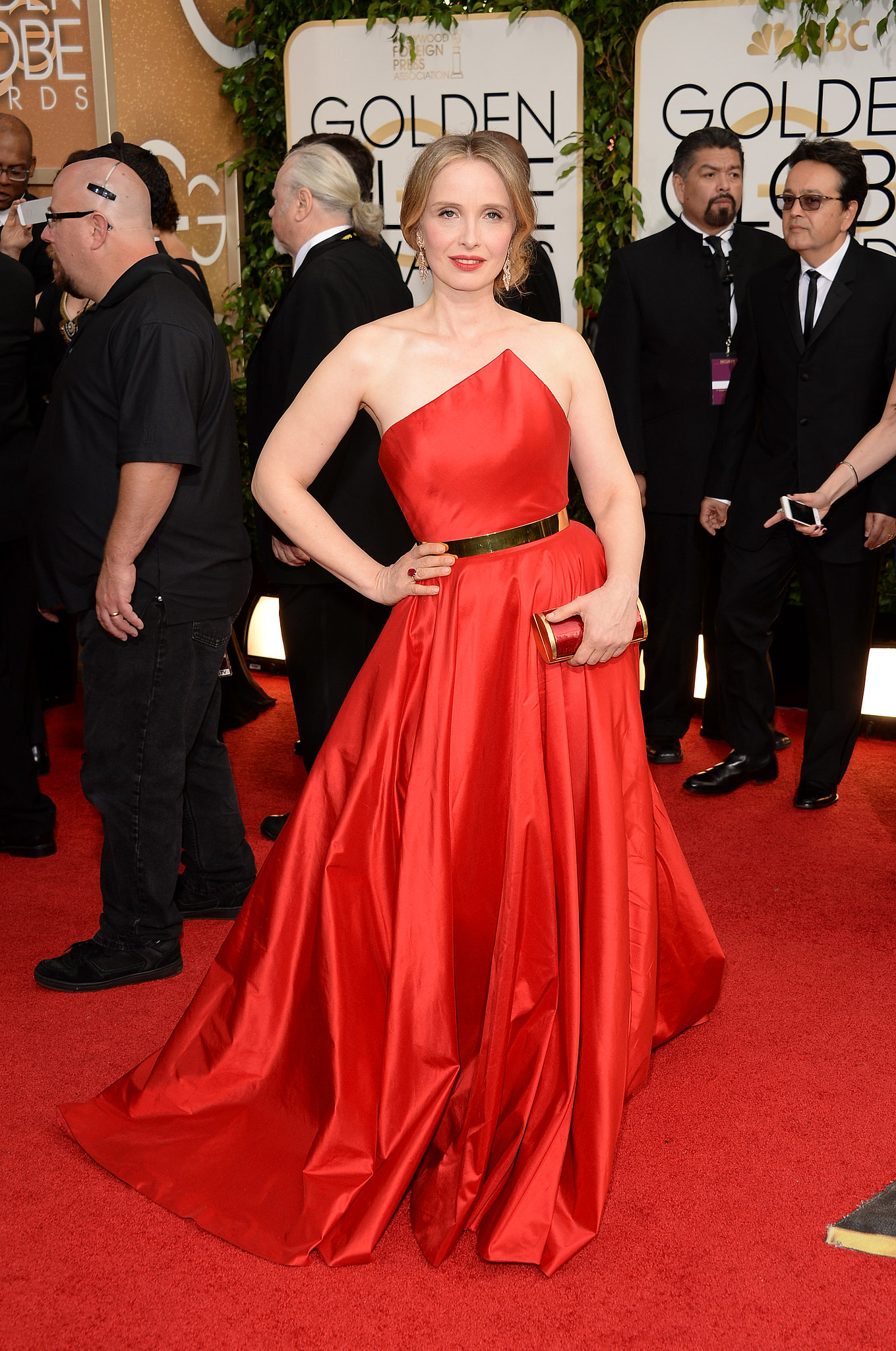 Julie Delpy arrived at the Golden Globes.