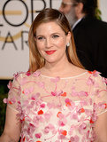 Drew Barrymore glowed as she walked the Golden Globes red carpet.