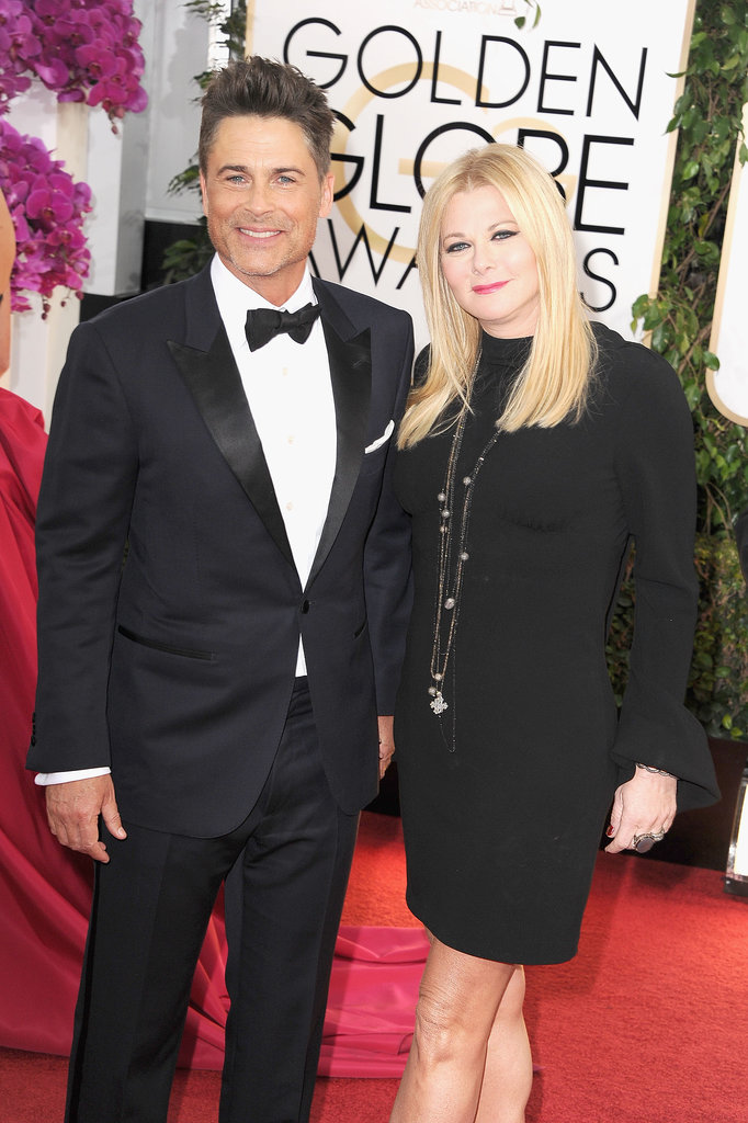 Rob Lowe and Sheryl Berkoff attended the Golden Globes.