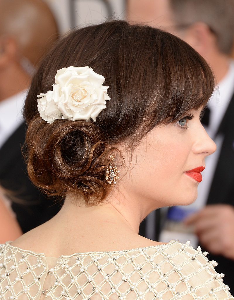 Zooey Deschanel at the Golden Globe Awards