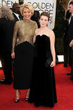 Saving Mr. Banks star Emma Thompson brought along her daughter, Gaia Romilly Wise, to the Golden Globes.