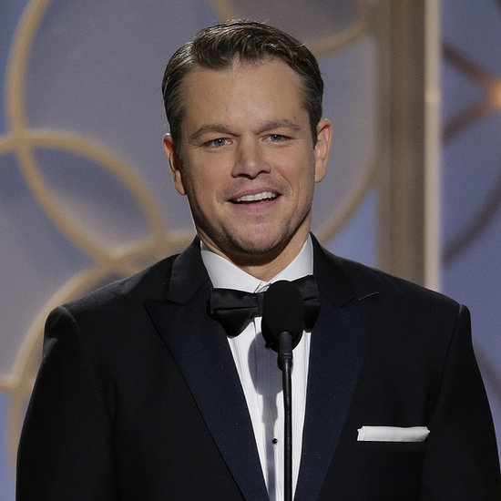 Matt Damon at the Golden Globes 2014