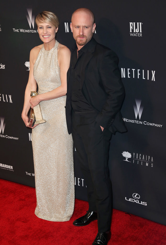 Robin Wright had her new fiancé, Ben Foster, and her award by her side.