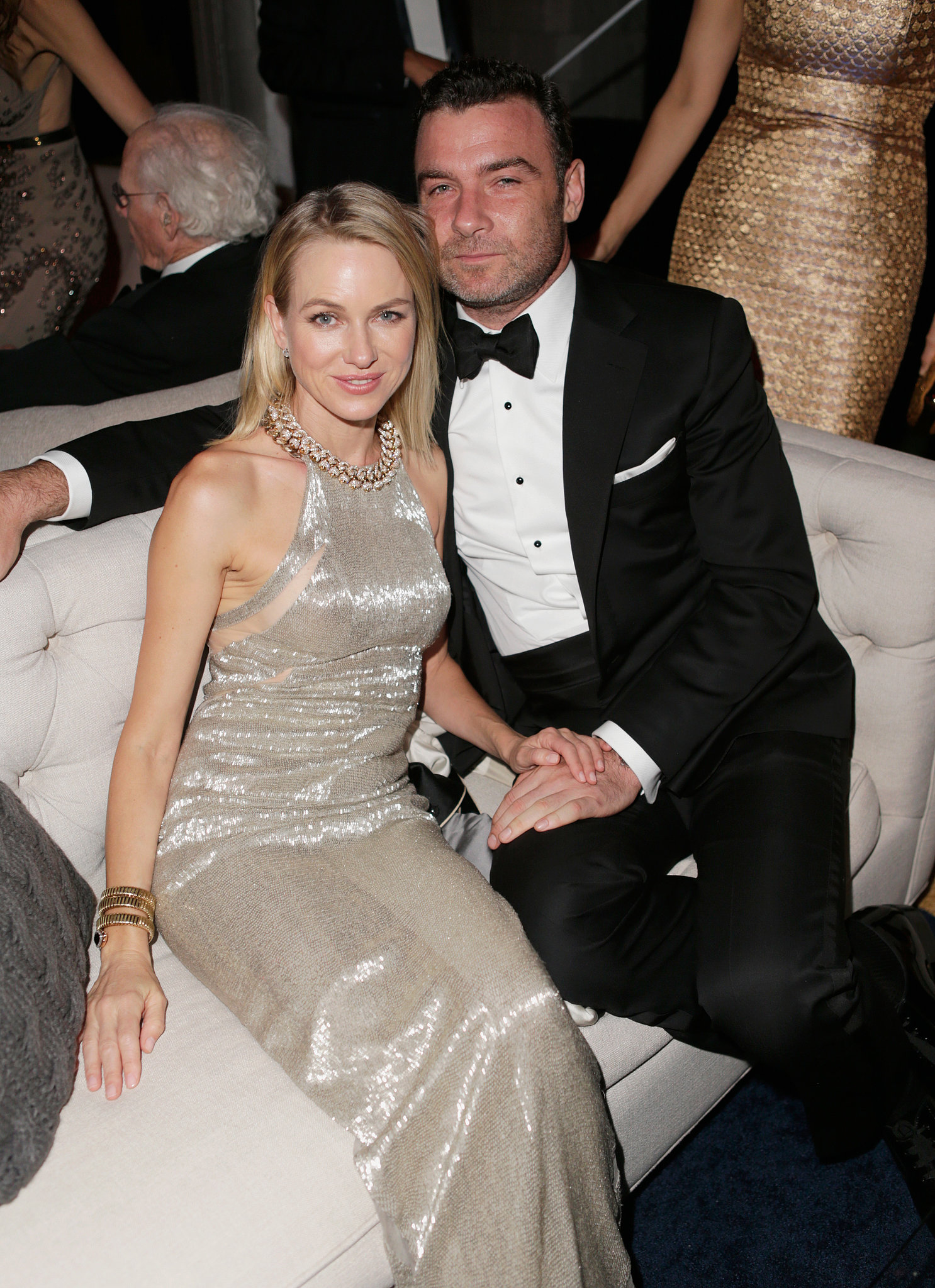 Naomi Watts and Liev Schreiber lounged at the bash Liev Schreiber And Naomi Watts