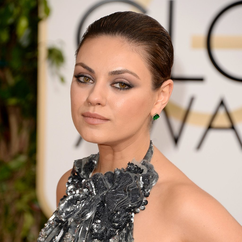 Mila Kunis's Hair and Makeup at Golden Globes 2014