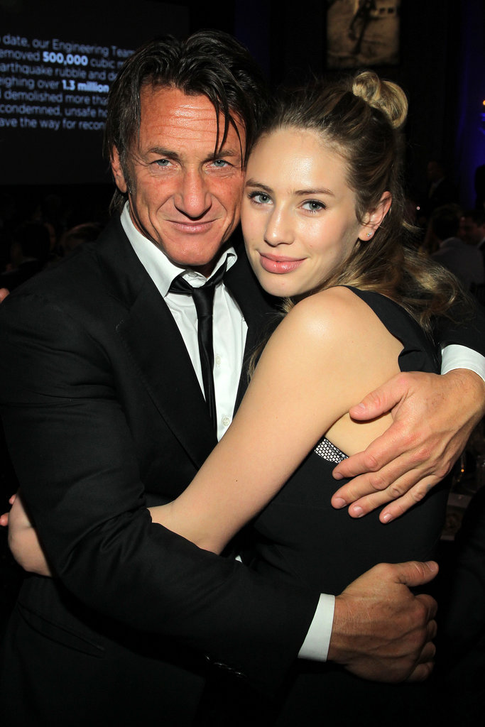 Sean Penn hugged his daughter, Dylan Penn.