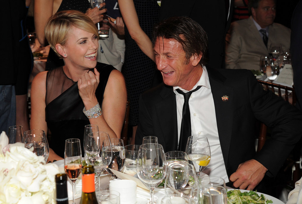Charlize and Sean shared a laugh.