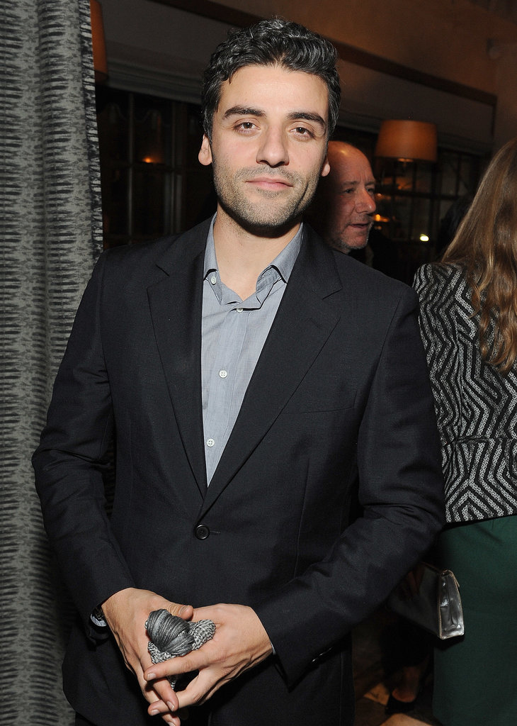 Oscar Isaac looked handsome at the HBO party.