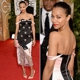 LIVE 2014 Golden Globes Red Carpet with Zoe Saldana