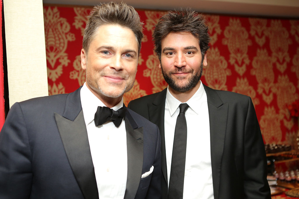 Rob Lowe met up with Josh Radnor.