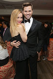 Leslie Mann snuggled up to Andrew Rannells.