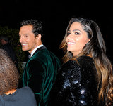 Matthew McConaughey and Camila Alves were all smiles on their way into NBC's post-Globes event.