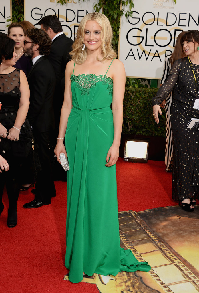 Taylor Schilling at the Golden Globes in Thakoon