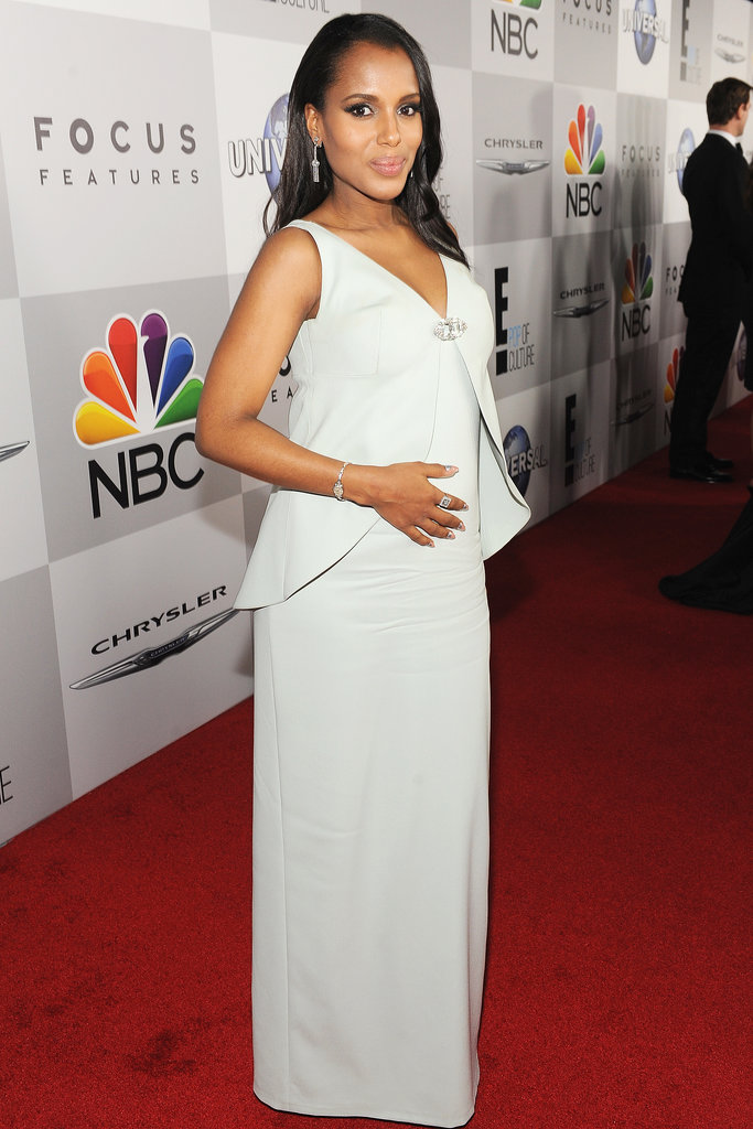 Kerry Washington at the Golden Globes in Balenciaga