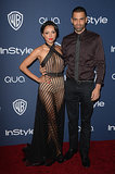 Kat Graham and fiancé Cottrell Guidry stayed close on the red carpet.