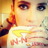 A girl's best friends: diamonds and a cheeseburger. Source: Instagram user emmaroberts6