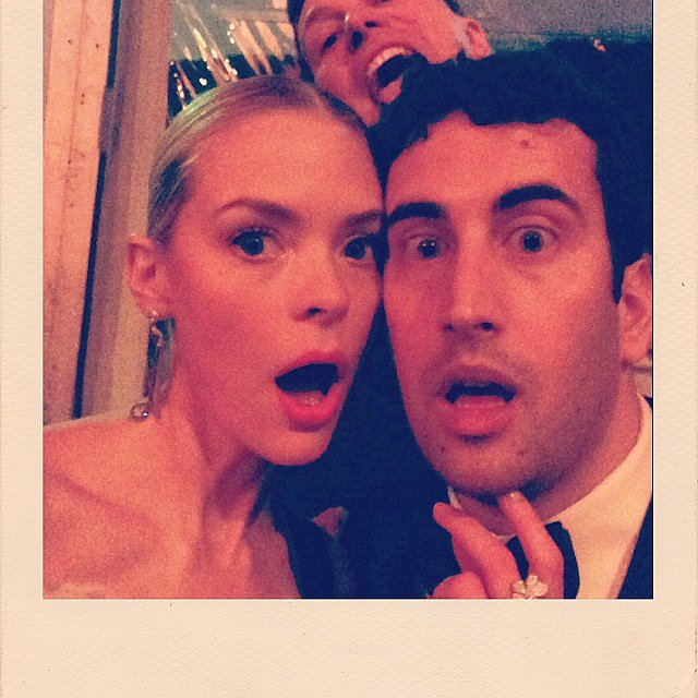 Jaime King got photobombed after the Globes. Source: Instagram user jaime_king