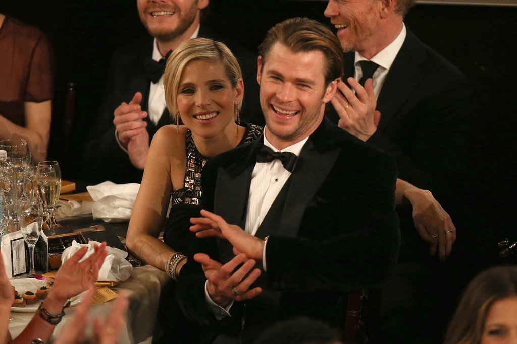 Chris Hemsworth and Elsa Pataky were one hot couple in the audience.  Source: Christopher Polk/NBC/NBCU Photo Bank/NBC