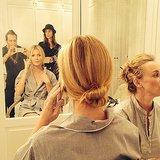 Gwyneth Paltrow got ready for the big show with her hairstylist Adir Abergel. Source: Facebook user Adir Abergel Fan Page