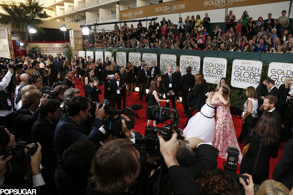 All eyes were on Jennifer Lawrence and Drew Barrymore's sweet red carpet embrace.