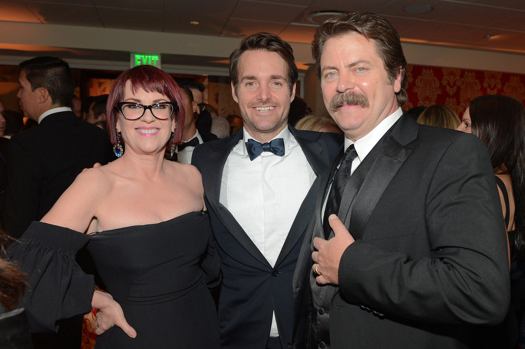 And Will Forte was there too — but busy with Nick Offerman and Megan Mullally.
