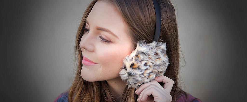 DIY: Furry Leopard-Print Earmuffs!