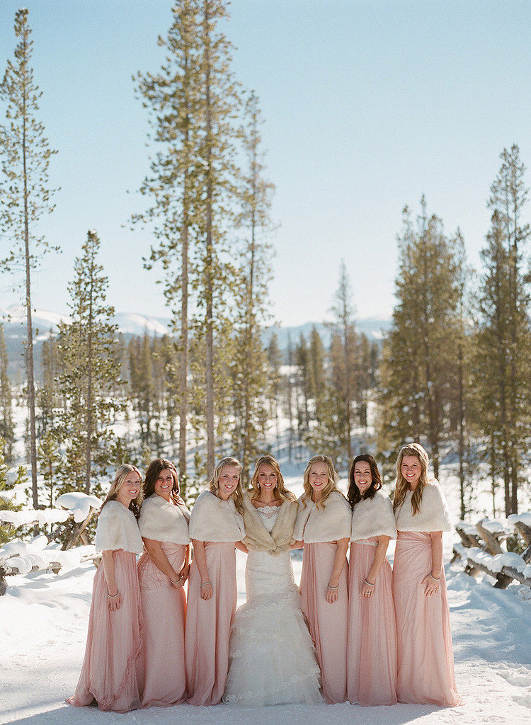Fur Shawls For the Bridal Party