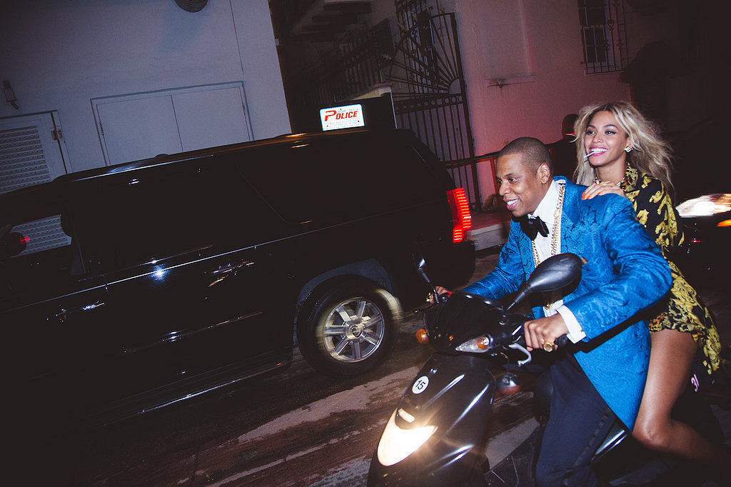 Jay Z and Beyoncé zipped around on a motorcycle. Source: Tumblr user Beyoncé Knowles