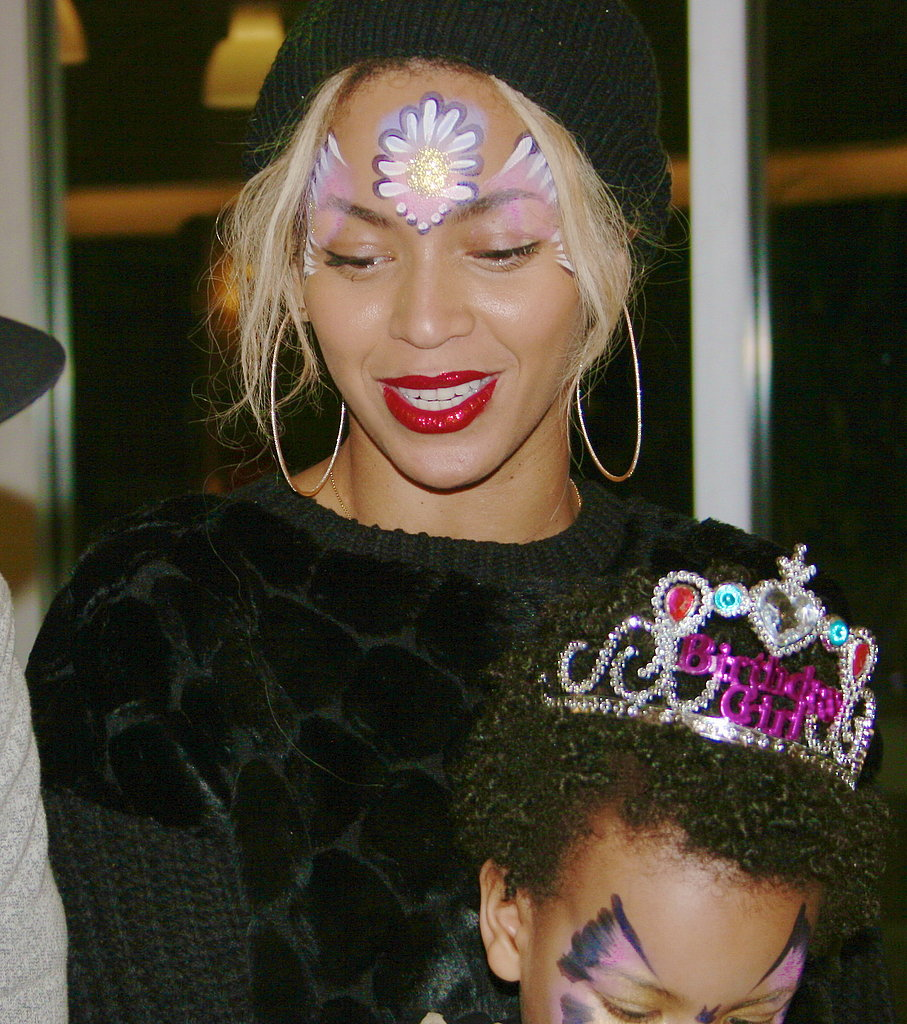Blue Ivy and Beyoncé got their faces painted — and Blue Ivy wore a birthday crown! Source: Tumblr user Beyoncé Knowles