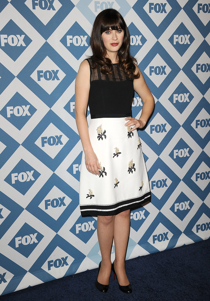 Zooey Deschanel attended Fox's Winter TCA party in LA on Monday.