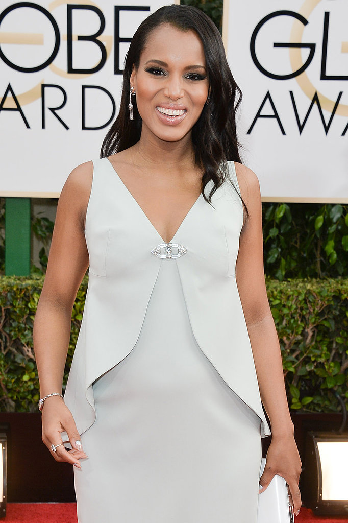 In addition to presenting, Kerry Washington is also celebrating her second SAG nomination for her work on Scandal.