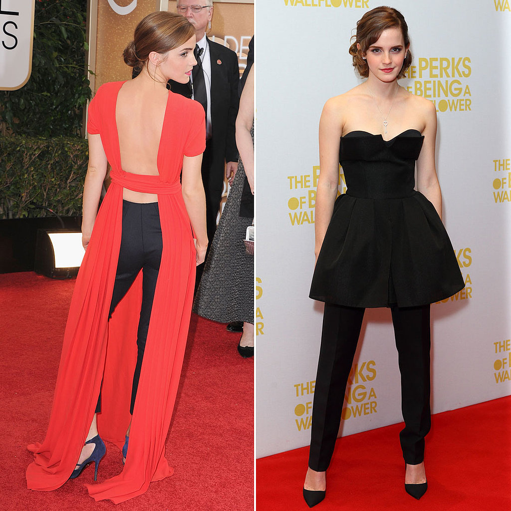 Emma Watson in Dresses Over Pants