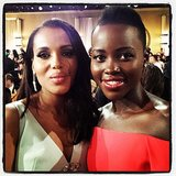 """#GoldenGlobes Checklist: meet and let @kerrywashington know that I am a #Gladiator - CHECK!"" Source: Instagram user lupitanyongo"