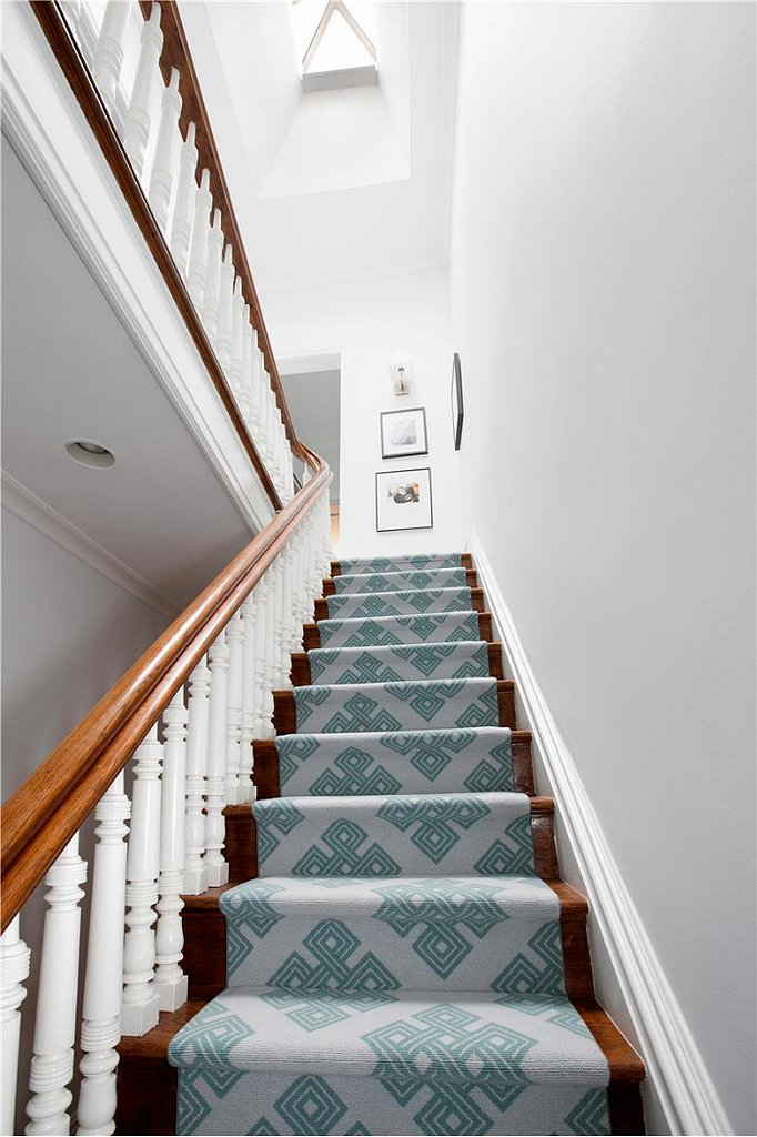 A Patterned Stair Runner