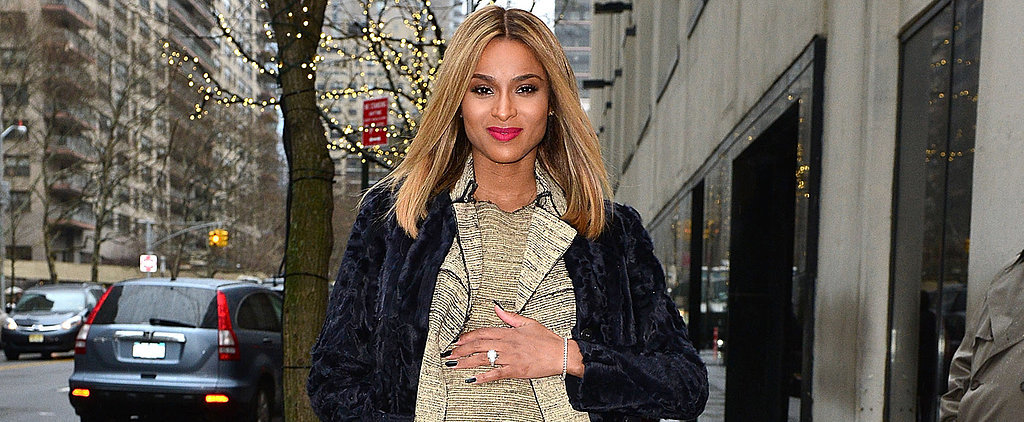"Ciara's Pregnancy Style Secret? ""Stealing Clothes Out of My Fiancé's Closet!"""