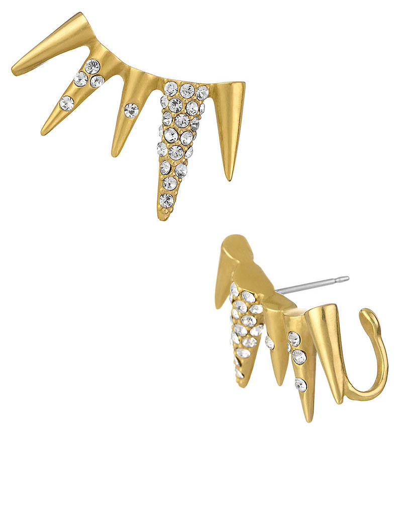 Sam Edelman Crystallized Spike Ear Cuff Earrings ($60)