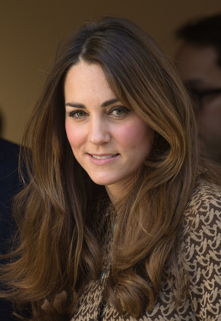 While everyone is focusing on Kate Middleton's amazing blowouts, we couldn't help but notice that her brunette hair color is also one to envy. Her highlights frame her face from root to tip.