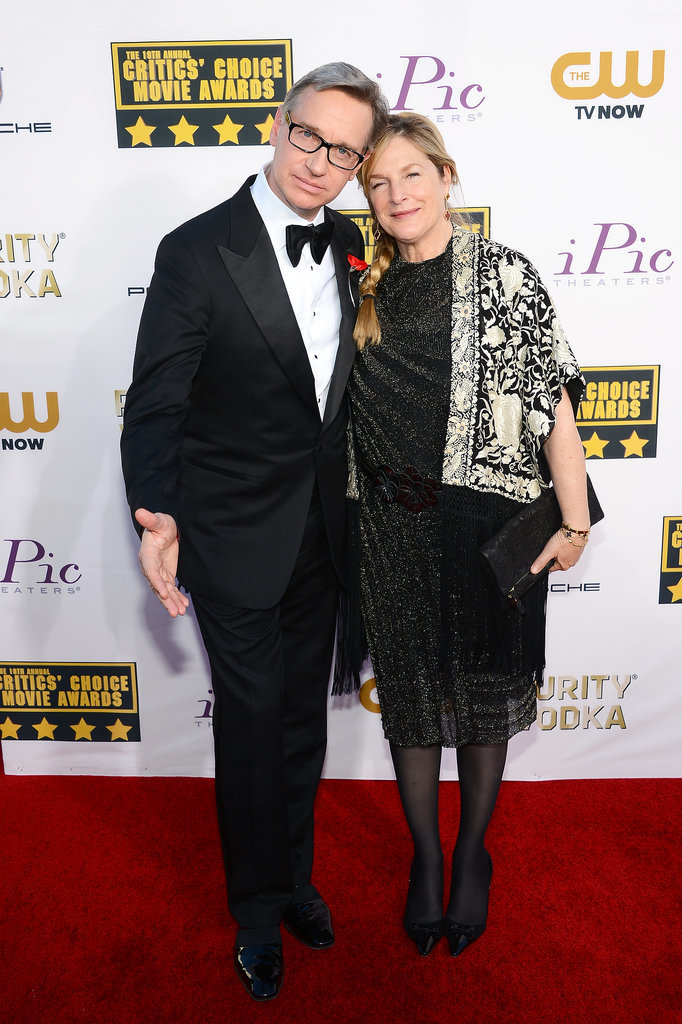 Paul Feig and his wife, Laurie Karon, arrived for the event.